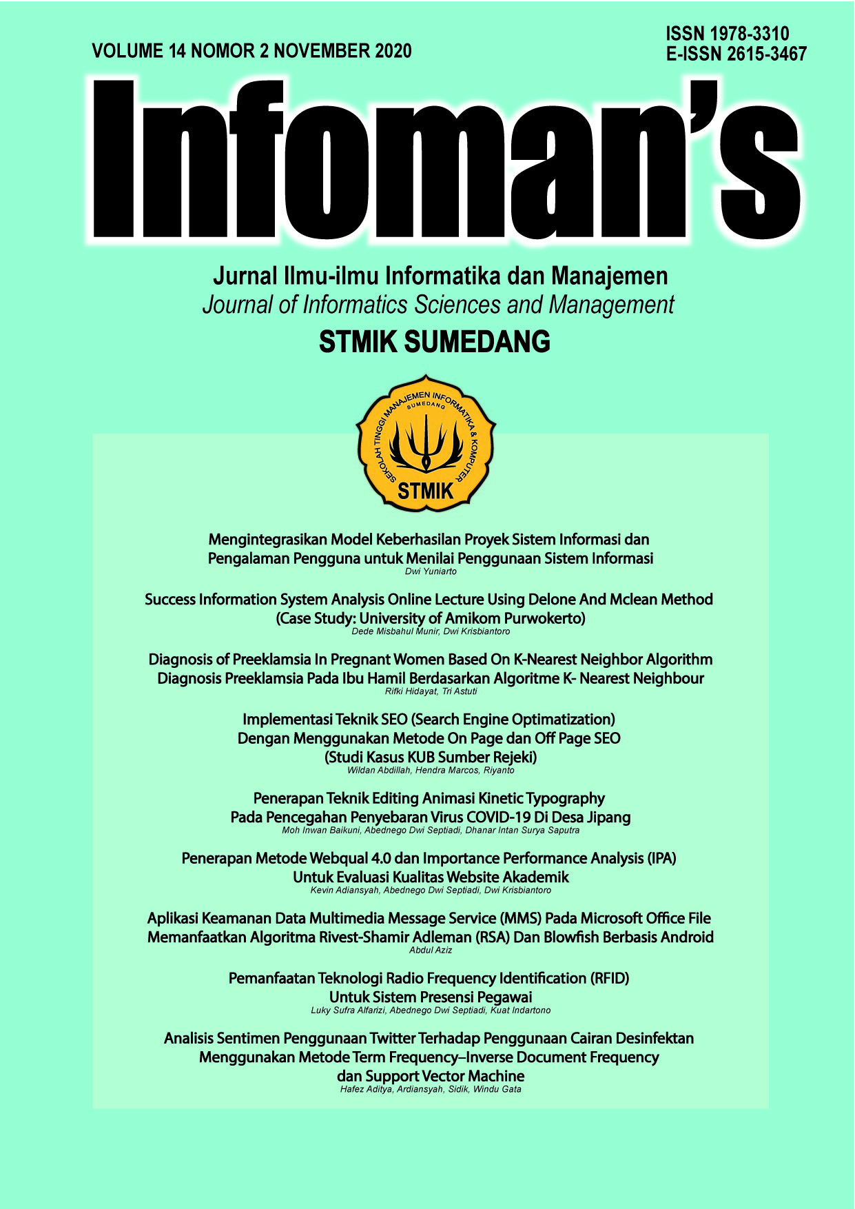 Infoman's Volume 14 No 2 November 2020