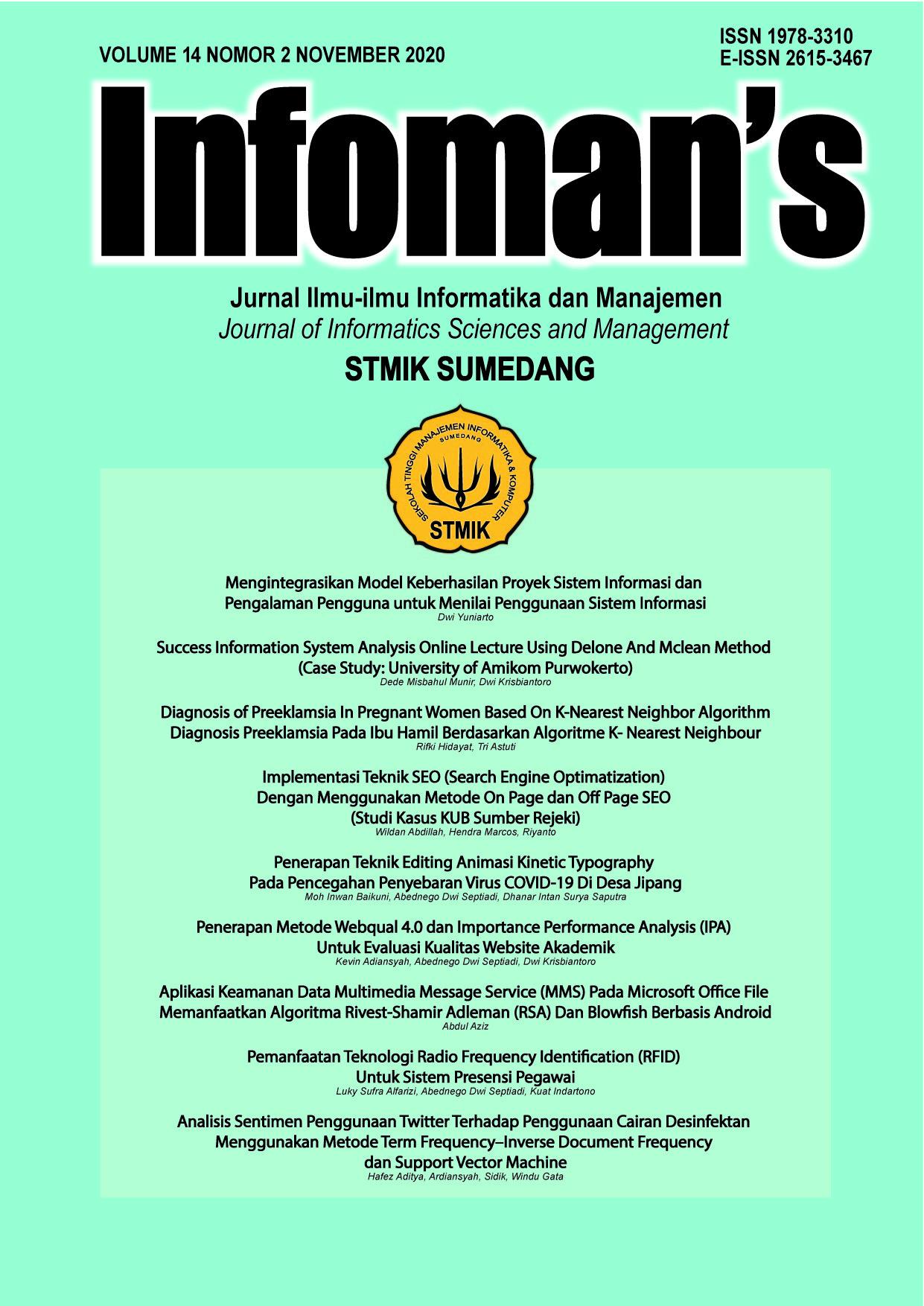 Infoman's Volume 14 No 2 November 2020