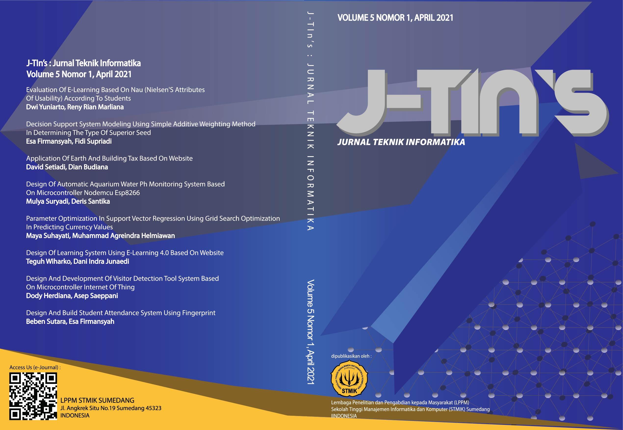 View Vol. 5 No. 1 (2021): J-Tin's
